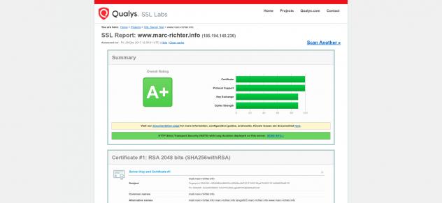 Qualys SSL Rank A+ (29.12.2017)