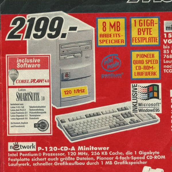 1990s MediaMarkt flyer