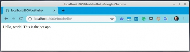 Hello world! for bot app