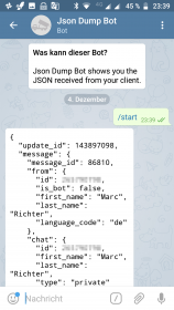 "Telegram conversation with ""jsondumpbot"""